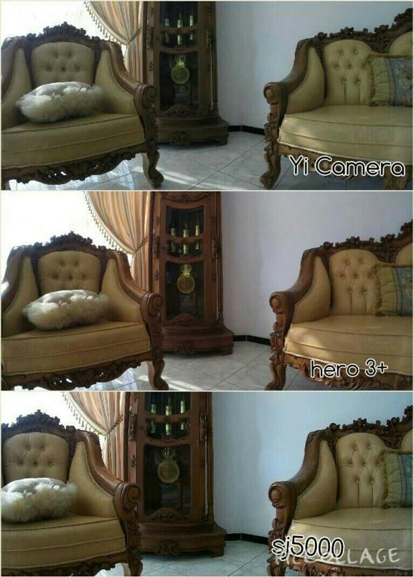 Perbandingan foto dalam ruangan