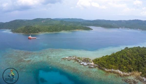Pulau matak, helicopter view saat pulang
